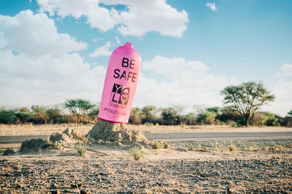 Advantage Y&R YOLO Condoms Anthill Termite Mound